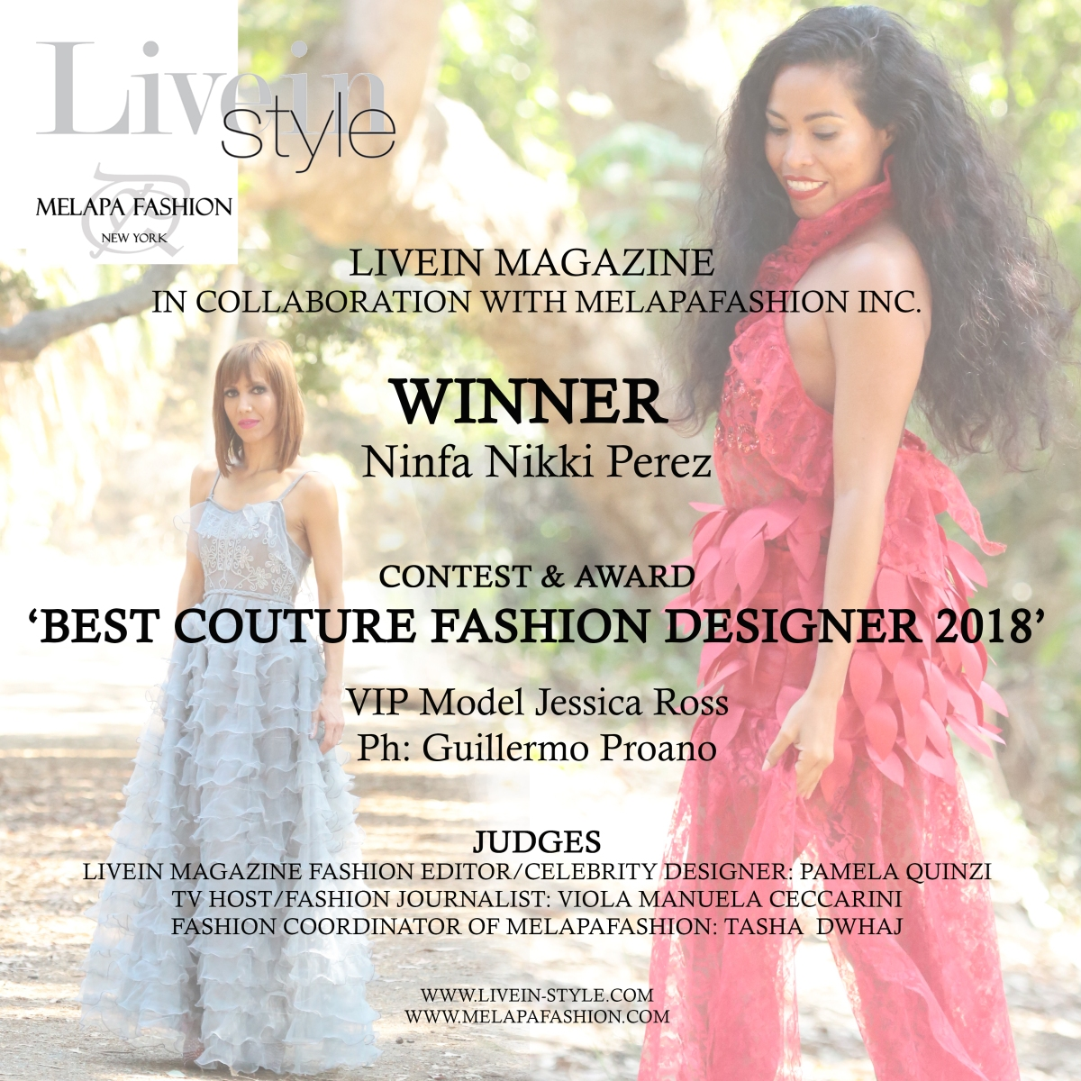 Winner Fashion Journalist Of The Year: Ninfa Nikki Perez Won The Contest And Award 'Best Couture