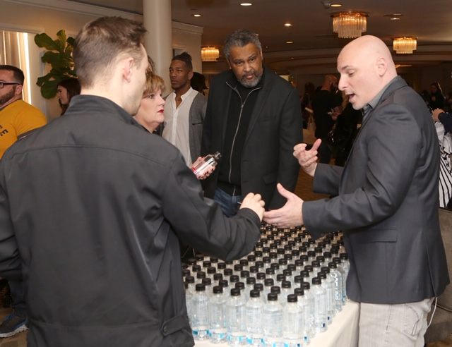 Oscar winner Kevin Willmott checks out Iceage Glacial Water at EcoLuxeLounge